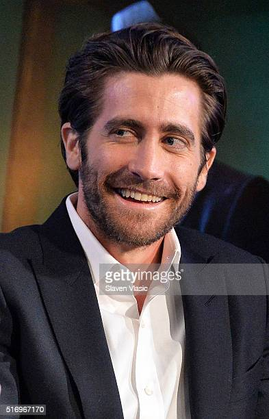 Actor Jake Gyllenhaal discusses his new film 'DemolitionÓ at AOL Build Speaker Series at AOL Studios In New York on March 22 2016 in New York City