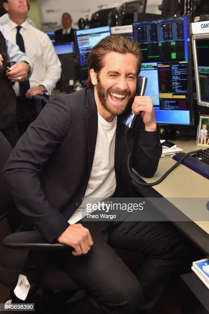 Actor Jake Gyllenhaal participates in Annual Charity Day hosted by Cantor Fitzgerald BGC and GFI at Cantor Fitzgerald on September 11 2017 in New...