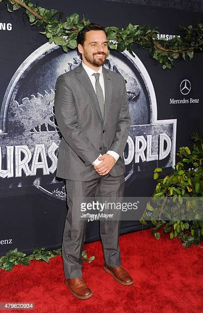 Actor Jake Johnson arrives at the 'Jurassic World' World Premiere at Dolby Theatre on June 9 2015 in Hollywood California