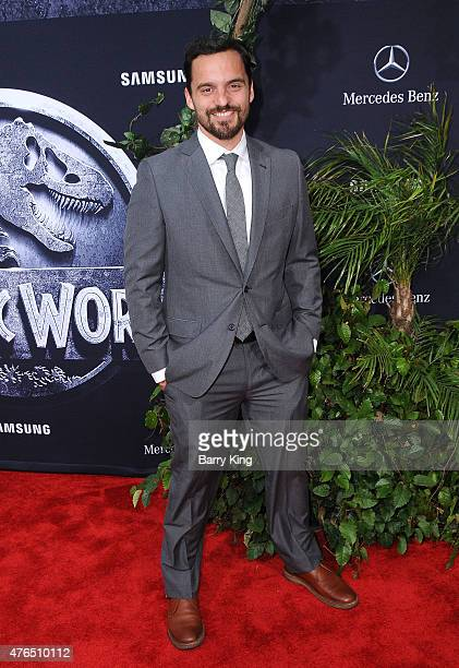 Actor Jake Johnson arrives at Universal Pictures World Premiere of 'Jurassic World' at Dolby Theatre on June 9 2015 in Hollywood California