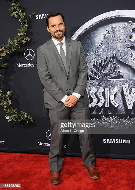Actor Jake Johnson arrives for the Premiere Of Universal Pictures' Jurassic World held in the courtyard of Hollywood Highland on June 9 2015 in...