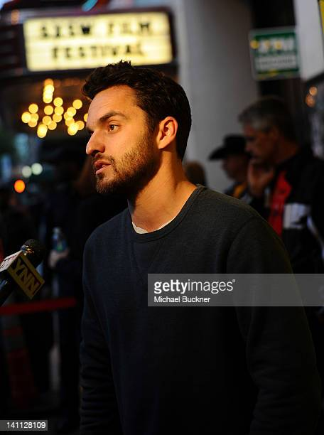 Actor Jake Johnson arrives to the premiere of Safety Not Guaranteed during the 2012 SXSW Music Film Interactive Festival at the Paramount Theatre on...