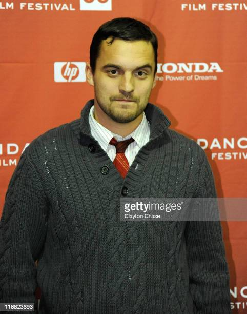 Actor Jake Johnson attend the premiere of 'Paper Heart' during the 2009 Sundance Film Festival at Racquet Club Theatre on January 17 2009 in Park...