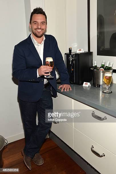 Actor Jake Johnson attends the Stella Artois PerfectDraft Home Bar celebration event on March 25 2014 in New York City