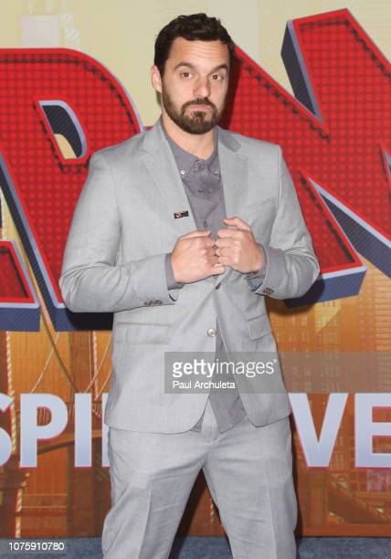 Actor Jake Johnson attends the world premiere of Sony Pictures Animation and Marvel's SpiderMan Into The SpiderVerse at The Regency Village Theatre...