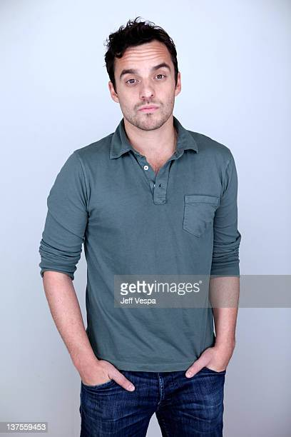 Actor Jake Johnson poses for a portrait during the 2012 Sundance Film Festival at the WireImage Portrait Studio at TMobile Village at the Lift on...