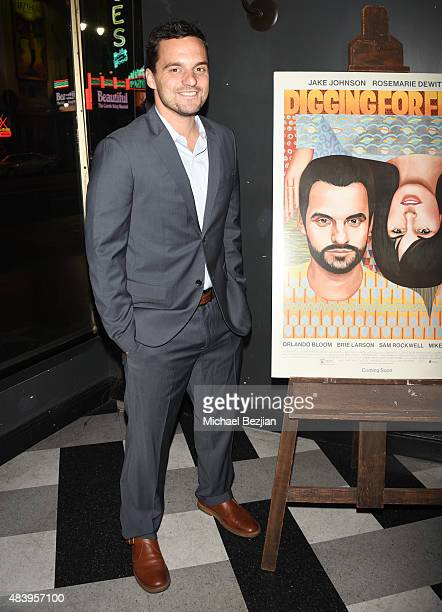 Actor Jake Johnson poses for portrait at Sabra Dipping Co Presents The Los Angeles Premiere Of The Orchard's 'Digging For Fire' on August 13 2015 in...