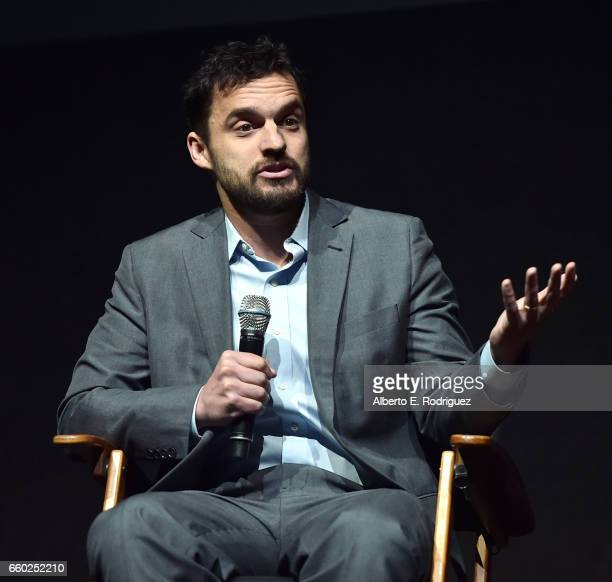 Actor Jake Johnson speaks onstage at CinemaCon 2017 Universal Pictures Invites You to a Special Presentation Featuring Footage from its Upcoming...