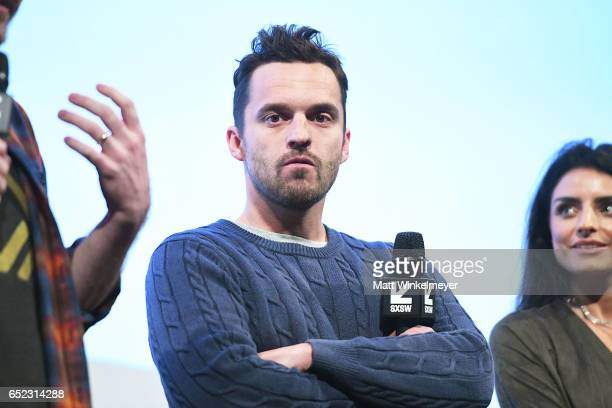 Actor Jake Johnson speaks onstage during the 'Win It All' premiere 2017 SXSW Conference and Festivals on March 11 2017 in Austin Texas
