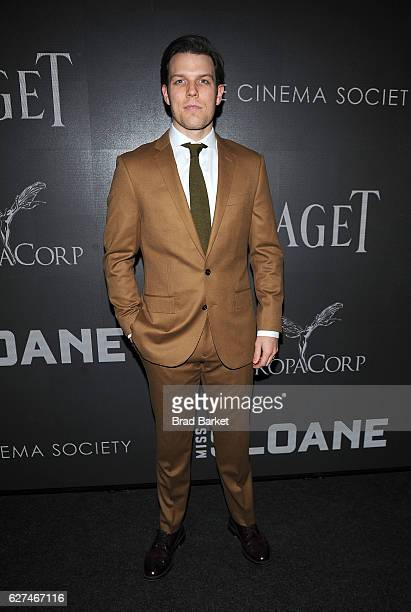 """Actor Jake Lacy attends The Cinema Society with Piaget host a Screening of EuropaCorp's """"Miss Sloane"""" at SAG-AFTRA Foundation Robin Williams Center..."""
