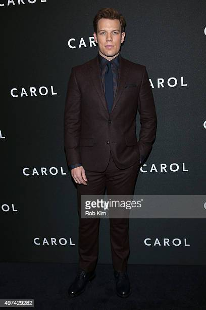 """Actor Jake Lacy attends the New York premiere of """"Carol"""" at the Museum of Modern Art on November 16, 2015 in New York City."""
