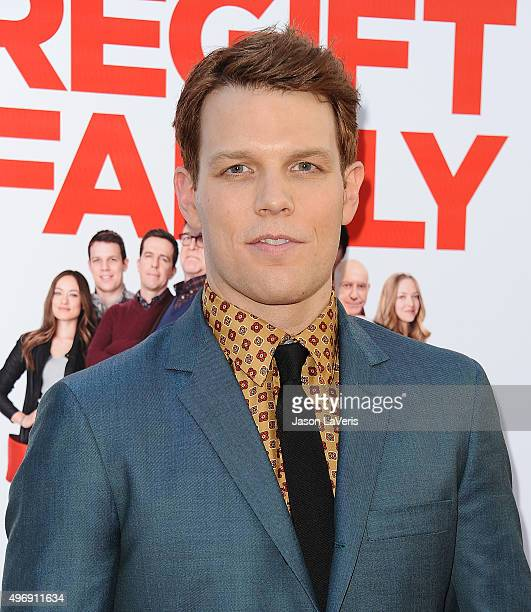 """Actor Jake Lacy attends the premiere of """"Love The Coopers"""" at Park Plaza on November 12, 2015 in Los Angeles, California."""