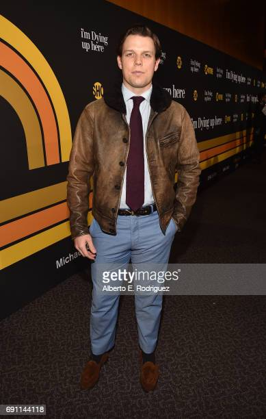 """Actor Jake Lacy attends the premiere of Showtime's """"I'm Dying Up Here"""" at the DGA Theater on May 31, 2017 in Los Angeles, California."""