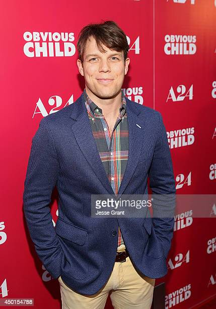 """Actor Jake Lacy attends the Screening of A24's """"Obvious Child"""" at the ArcLight Hollywood on June 5, 2014 in Hollywood, California."""