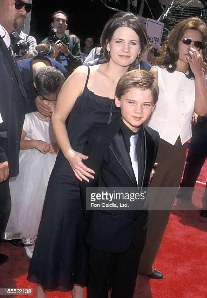 Actor Jake Lloyd and mother Lisa Lloyd attend the Star Wars Episode I The Phantom Menace Westwood Premiere on May 16 1999 at Avco Center Cinemas in...