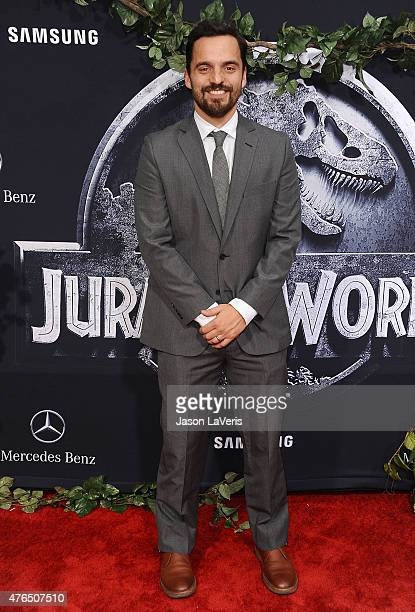 Actor Jake M Johnson attends the premiere of 'Jurassic World' at Dolby Theatre on June 9 2015 in Hollywood California