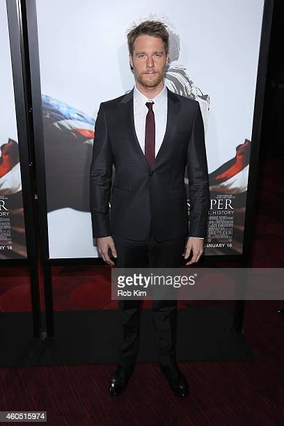 Actor Jake McDorman arrives at the American Sniper New York Premiere at Frederick P Rose Hall Jazz at Lincoln Center on December 15 2014 in New York...