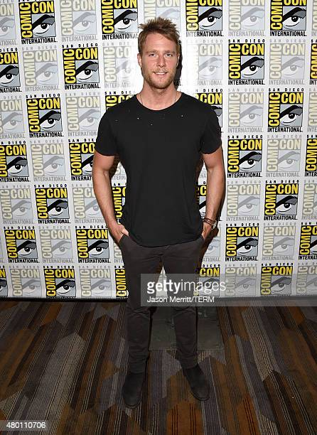 Actor Jake McDorman attends the CBS Television Studios press room during ComicCon International 2015 at the Hilton Bayfront on July 9 2015 in San...