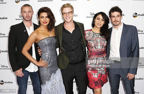 Actor Jake McLaughlin actress Priyanka Chopra actor Graham Rogers actress Yasmine Al Massri and actor Tate Ellington of the television show Quantico...
