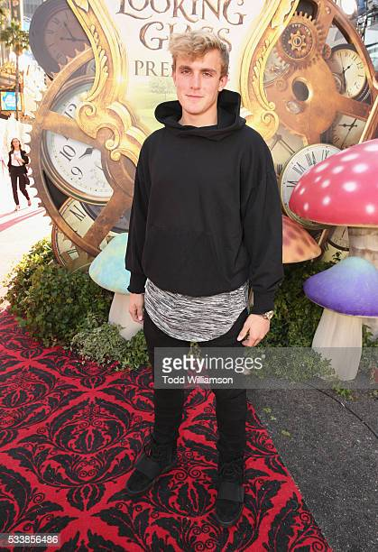 Actor Jake Paul attends the premiere of Disney's 'Alice Through The Looking Glass' at the El Capitan Theatre on May 23 2016 in Hollywood California