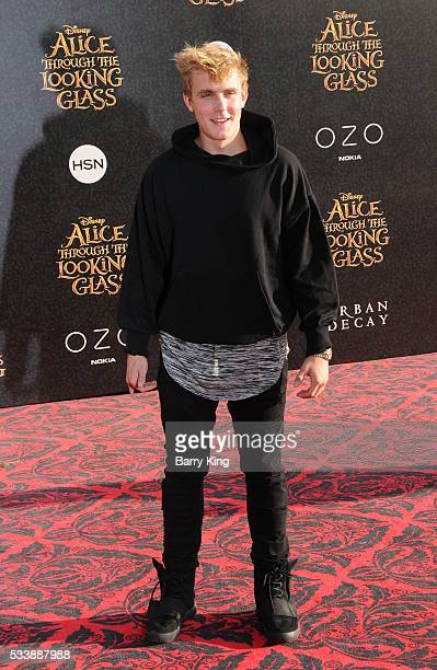 Actor Jake Paul attends the premiere of Disney's' 'Alice Through The Looking Glass' at the El Capitan Theatre on May 23 2016 in Hollywood California