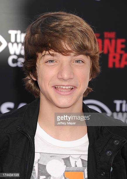 Actor Jake Short arrives at 'The Lone Ranger' World Premiere at Disney's California Adventure on June 22 2013 in Anaheim California
