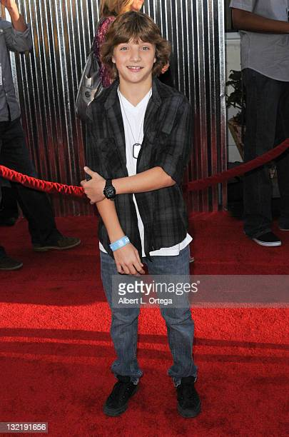 Actor Jake Short arrives for the 'Real Steel' Los Angeles Premiere at Gibson Amphitheatre on October 2 2011 in Universal City California