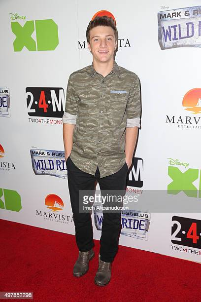 Actor Jake Short attends the premiere of Disney XD's original movie 'Mark Russell's Wild Ride' at ArcLight Hollywood on November 18 2015 in Hollywood...