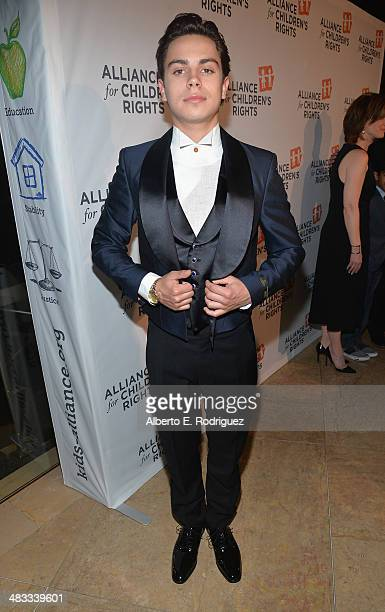 Actor Jake T Austin arrives to The Alliance for Children's Rights 22nd Annual Dinner at The Beverly Hilton Hotel on April 7 2014 in Beverly Hills...