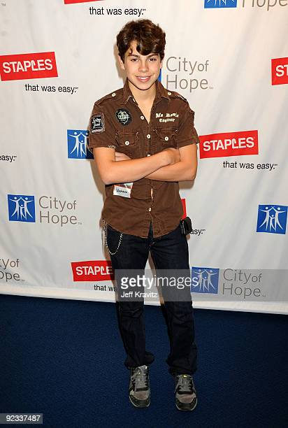 Actor Jake T Austin attends City of Hope's 2nd Annual Concert For Hope at Nokia Theatre LA Live on October 25 2009 in Los Angeles California