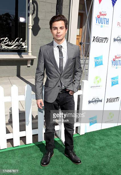 Actor Jake T Austin attends Variety's Power of Youth presented by Hasbro Inc and generationOn at Universal Studios Backlot on July 27 2013 in...