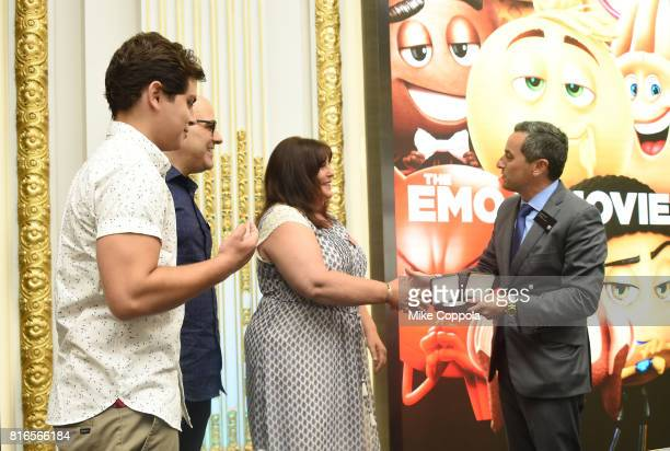 Actor Jake T Austin Director Tony Leondis Producer Michelle Raimo Kouyate and Vice President of the NYSE Listings and NYSE Services Chris Taylor ring...
