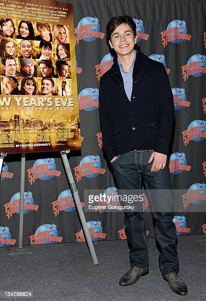 Actor Jake T Austin visits Planet Hollywood Times Square on November 29 2011 in New York City