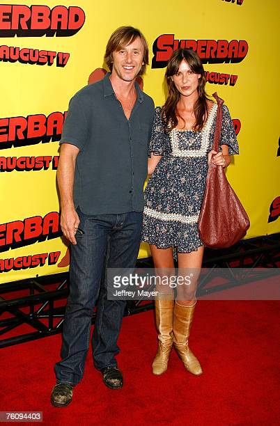 Actor Jake Weber and guest attend the premiere of Superbad at Grauman's Chinese Theatre on August 13 2007 in Hollywood California