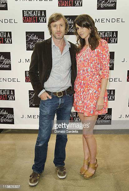 Actor Jake Weber and Liz Carey attend Beneath A Starlet Sky Book Signing At Saks Fifth Avenue Beverly Hills on May 6 2011 in Beverly Hills California
