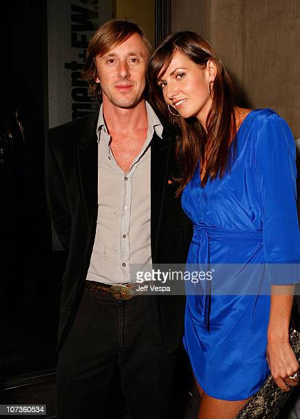 Actor Jake Weber and Liz Carey attend Entertainment Weekly's 5th Annual Emmy Celebration at Opera/Crimson on September 15, 2007 in Los Angeles,...
