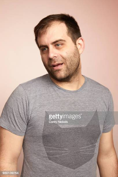 Actor Jake Weisman from the show 'Corporate' poses for a portrait in the Getty Images Portrait Studio Powered by Pizza Hut at the 2018 SXSW Film...