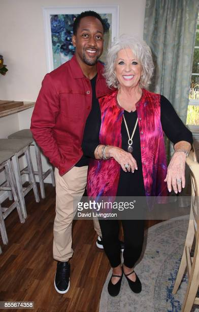 Actor Jaleel White and chef Paula Deen attend Hallmark's Home and Family at Universal Studios Hollywood on September 29 2017 in Universal City...