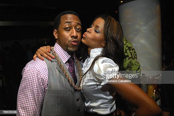 Actor Jaleel White and Claudia Jordan pose at Jamie Foxx's 40th birthday party hosted by Belvedere Vodka at The Florida Room at the Delano Hotel on...