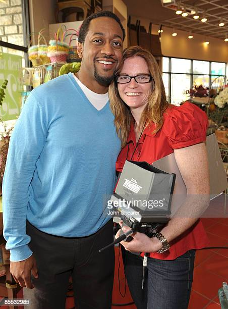 Actor Jaleel White and director Annie Lukowski at a taping of 'Road To The Alter' at the Pier 1 Imports on March 20 2009 in Los Angeles California