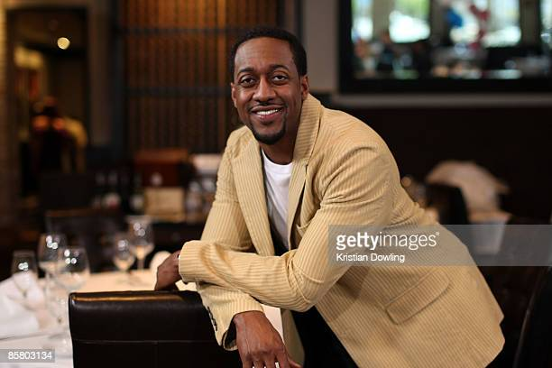 Actor Jaleel White on the set of Road To The Altar at Larsen's Steakhouse on April 4 2009 in Encino California