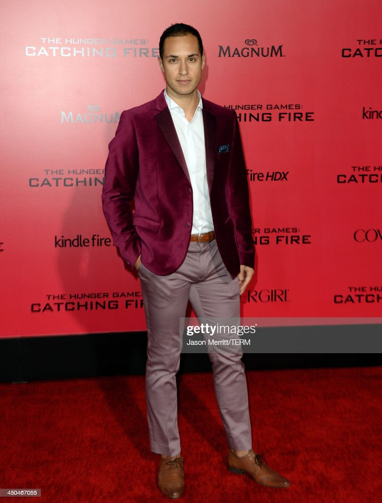 Actor Jalen Moore arrives at the premiere of Lionsgate's 'The Hunger Games: Catching Fire' at Nokia Theatre L.A. Live on November 18, 2013 in Los Angeles, California.