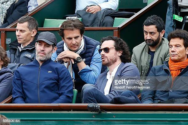 Actor Jalil Lespert Businessman Yannick Bollore actual Mayor of Paris Cabinet Director Mathias Vicherat and TV Host Cyril Hanouna attend Day Height...