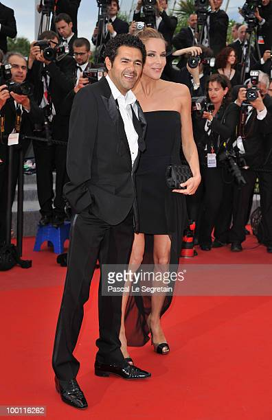 Actor Jamel Debbouze and actress Melissa Theuriau attend the 'Outside Of The Law' Premiere at the Palais des Festivals during the 63rd Annual Cannes...