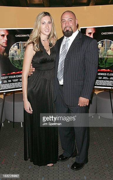 Actor Jamers Pittaro and wife attend the 'Keep Your Enemies Closer Checkmate' screening at the School of Visual Arts Theater on October 1 2012 in New...