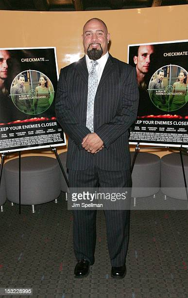 Actor Jamers Pittaro attends the 'Keep Your Enemies Closer Checkmate' screening at the School of Visual Arts Theater on October 1 2012 in New York...