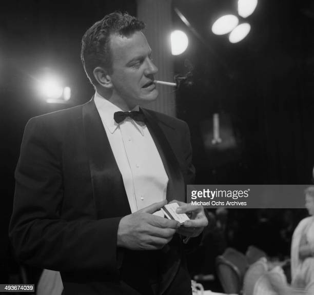 Actor James Arness attends the Emmy Awards in Los Angeles California