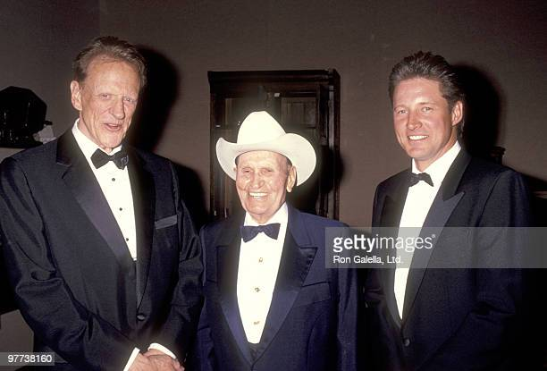 Actor James Arness Musician Gene Autry and Actor Bruce Boxleitner attend the US Marshals Foundation's America's Star Award Honoring Gene Autry on...