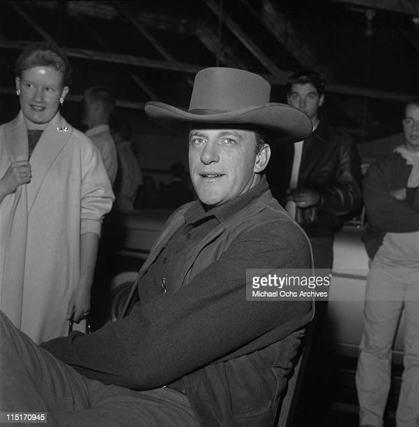Actor James Arness of TV's 'Gunsmoke' poses for a photo circa 1959 in Los Angeles California