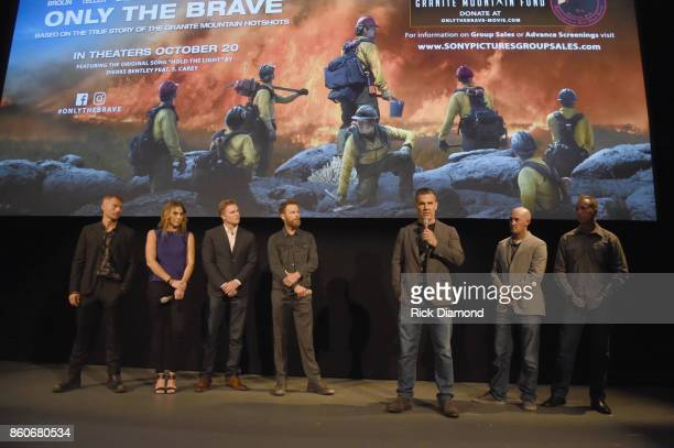 Actor James Badge Dale producers Molly Smith Trent Luckinbill singersongwriter Dierks Bently actor Josh Brolin tech advisor Pat McCarty and lone...